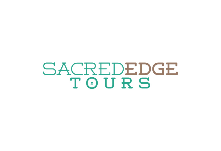 sacred edge tours logo design