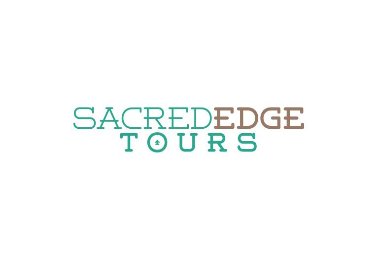 sacred edge tours logo design