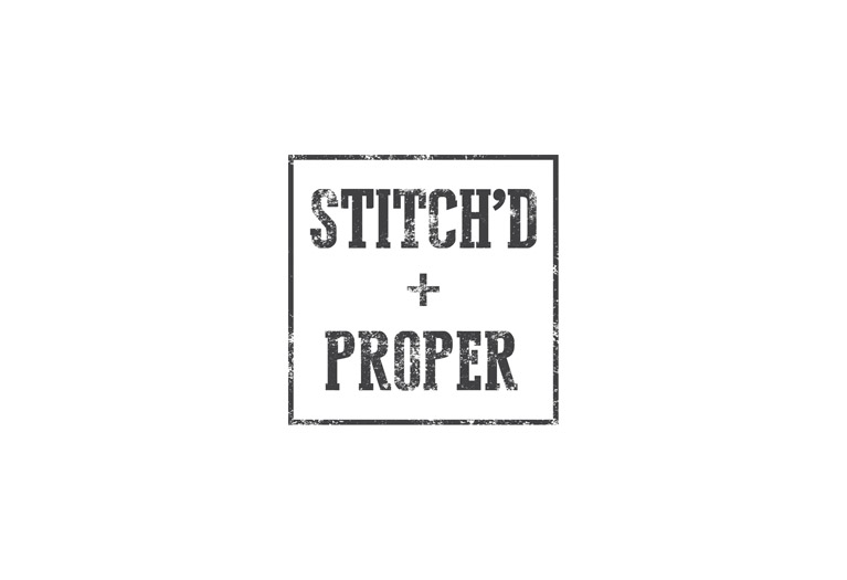 stitch'd + proper logo design
