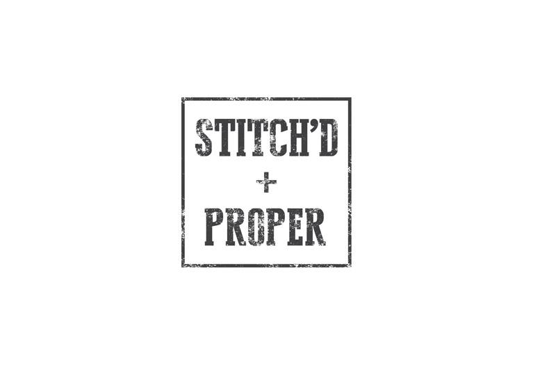 stitch'd + proper logo design