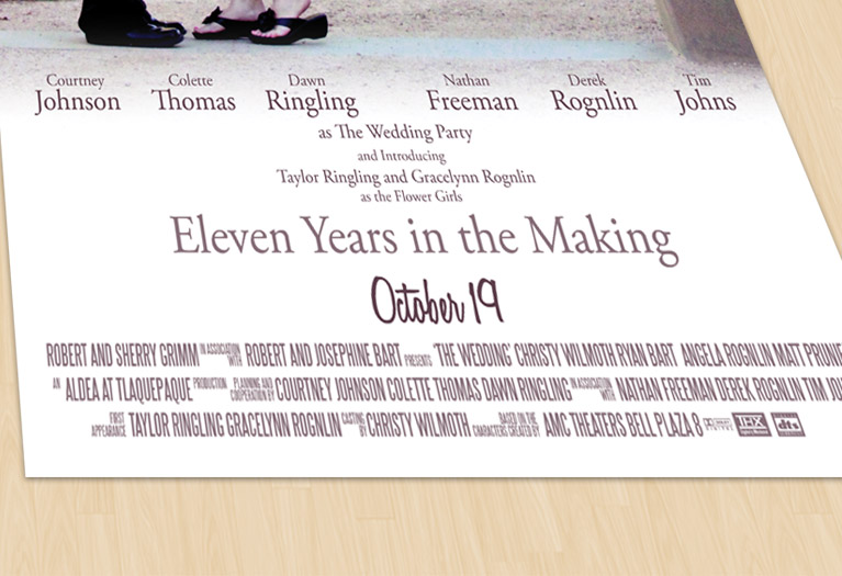 wedding movie poster detail