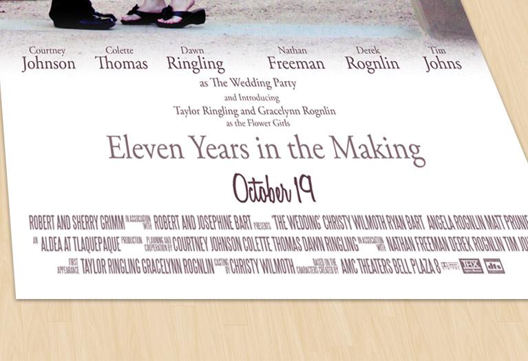 wedding movie poster detail