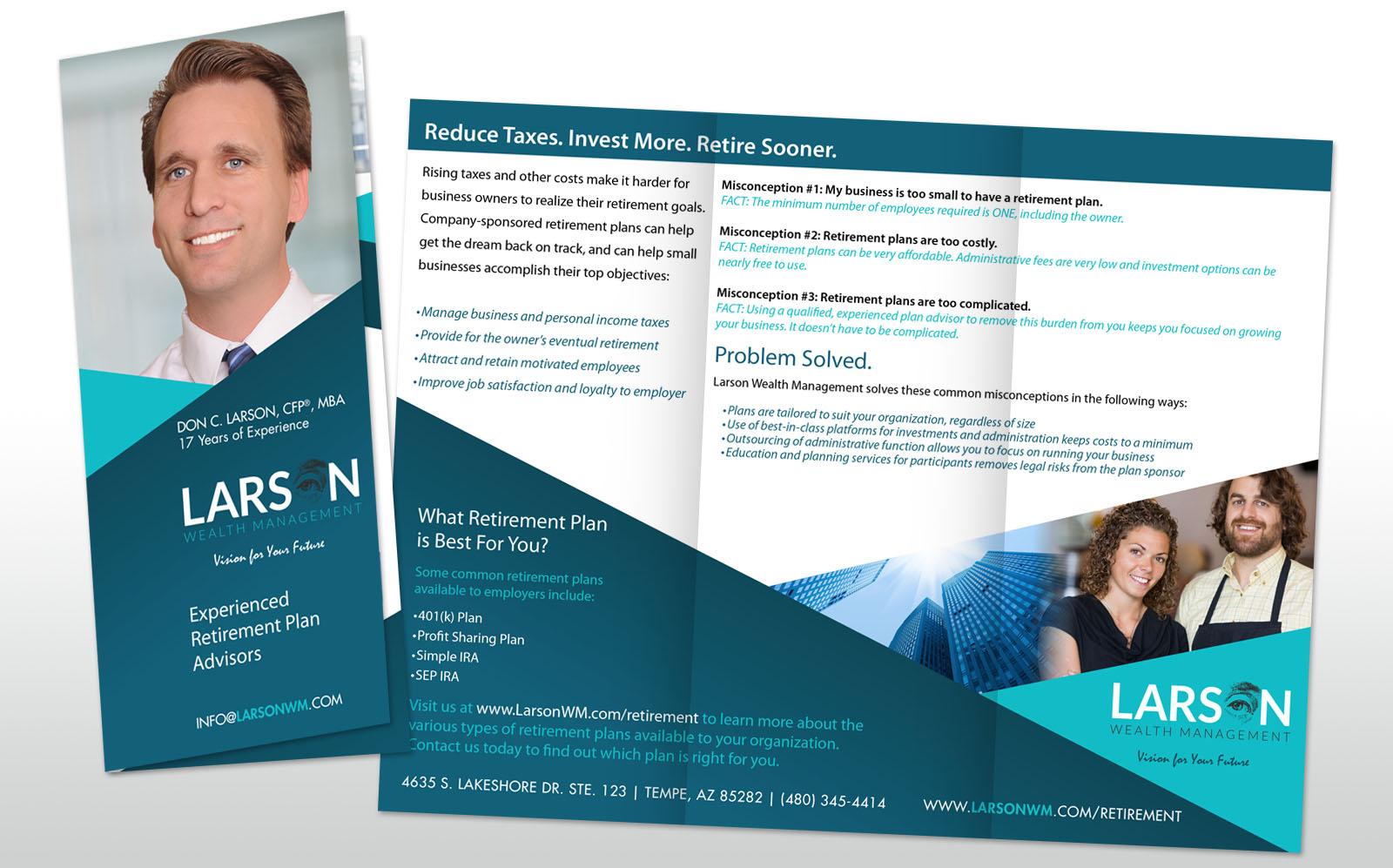 larson trifold brochure