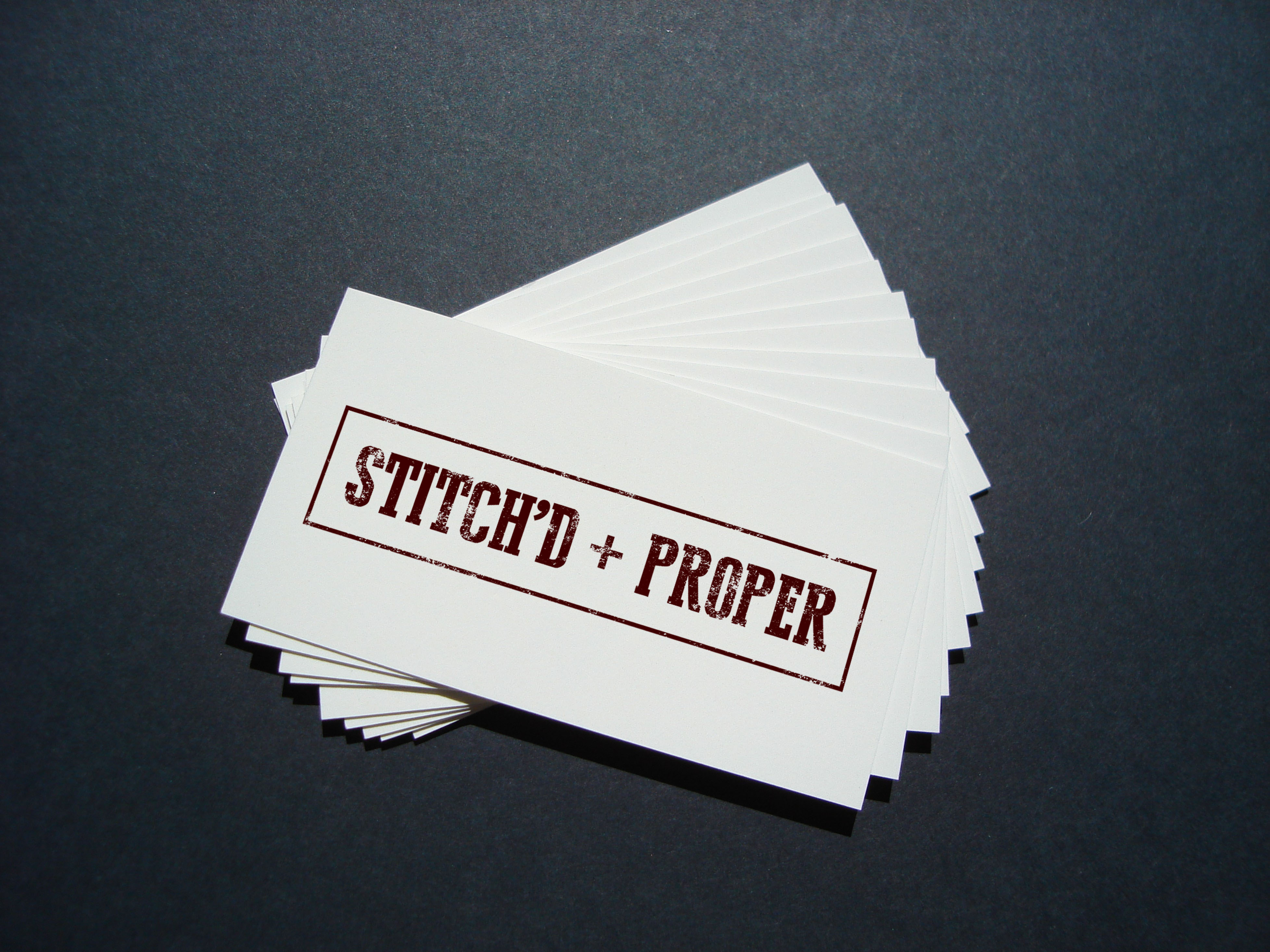 stitch'd proper business cards