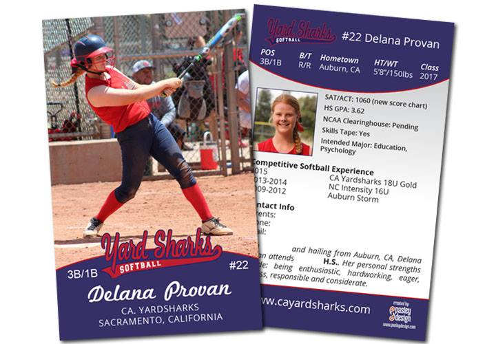 softball player card