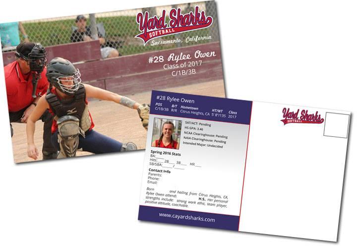 softball player mailer