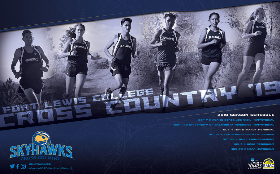 fort lewis college schedule poster design