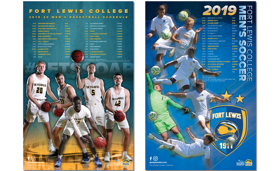 fort lewis college schedule poster designs