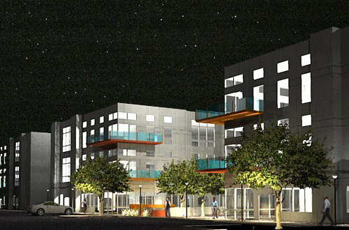 3D rendering building exterior